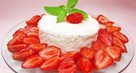 Baked Strawberry and Orange Curd Cake