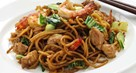 Mixed Meat Fried Noodles with Prawns