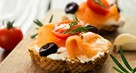 Salmon and Coriander Canapes