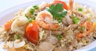 Fried Rice with Dried Shrimp and Salted Egg Yolk