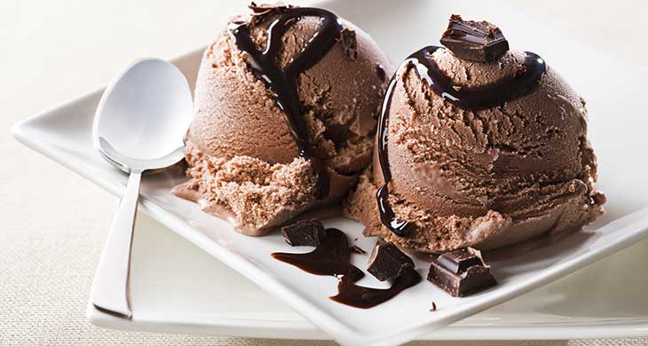 Chocolate Ice Cream with Rum and Raisins